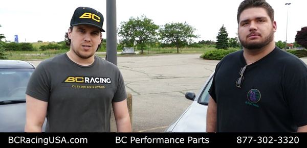 Racing Coilovers USA Installs Front and Rear BC Racing Coilovers